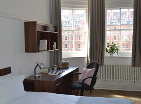 dormitorio en el Royal Holloway College